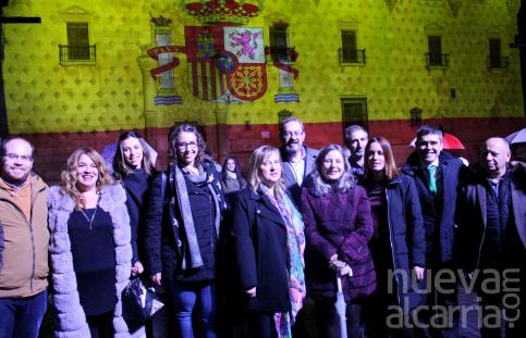 El video mapping del Infantado sirve para celebrar los datos de crecimiento turístico