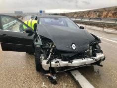 El alcalde de Cuenca sale ileso de un accidente de tráfico en Sisante