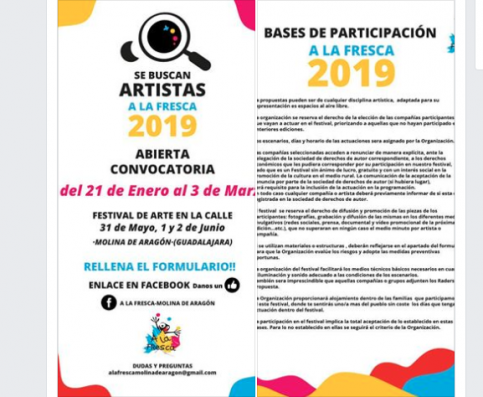 Se buscan artistas para el festival