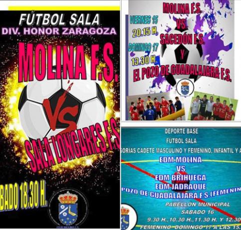 Agenda deportiva del Molina F.S.