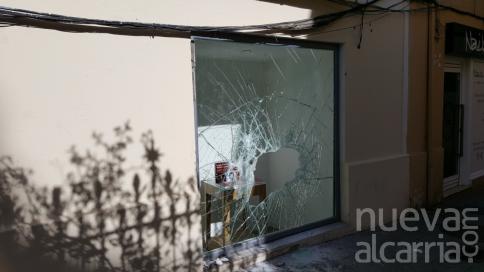Ataque a la tienda de Vodafone de la calle Mayor
