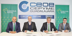 Eurocaja Rural reafirma su apoyo a CEOE- Cepyme Guadalajara