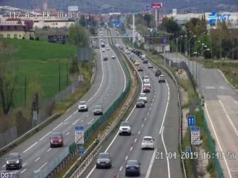 Retenciones por la Operación Retorno en accesos a Madrid y provincias limítrofes
