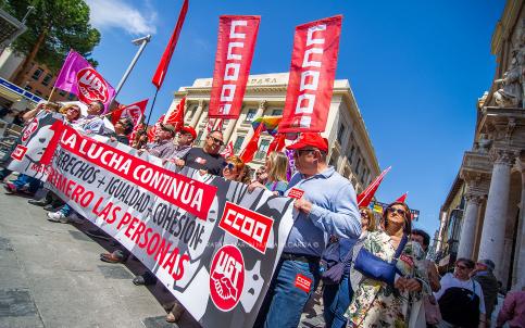 CCOO y UGT piden en el Primero de Mayo