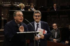 Orea presenta su libro sobre la catedral en el coro de los Mendoza de la Fortis seguntina