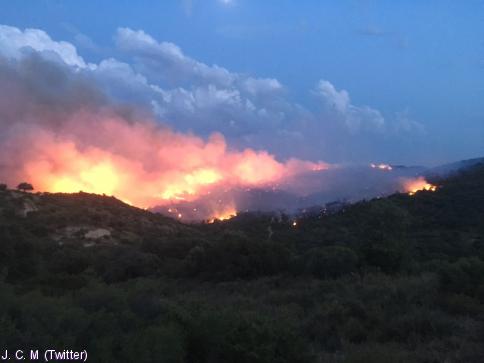 14 incendios en un día en la provincia
