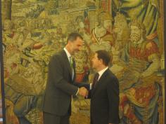 Felipe VI se reunirá este jueves con Page en La Zarzuela