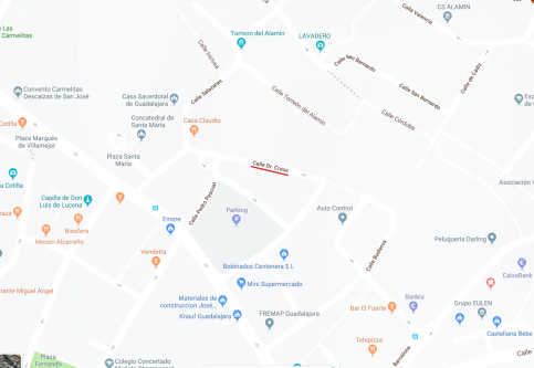 La calle Dr Creus de Guadalajara permanecerá cortada al tráfico del 14 al 17 de agosto por la demolición de una vivienda