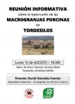 Reunión informativa sobre macrogranjas en Tordesilos