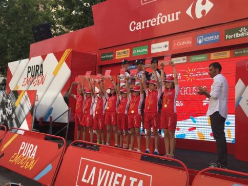 Los niños serán hoy los protagonistas con la Vuelta Junior