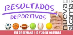 RESULTADOS DEPORTIVOS | 19 y 20 de octubre