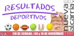 RESULTADOS DEPORTIVOS   9 y 10 DE NOVIEMBRE
