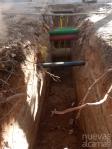 La Red de Calor con Biomasa llega al cruce de la avenida de El Ejército hacia General Vives Camino