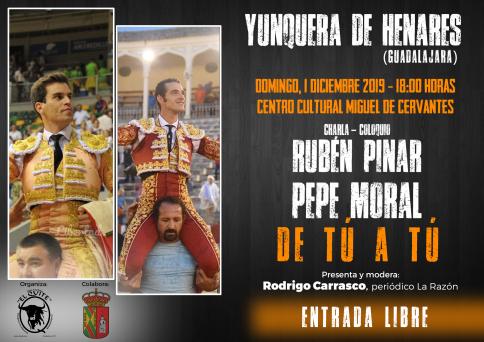 Rubén Pinar y Pepe Moral ofrecen un coloquio taurino de altura en Yunquera