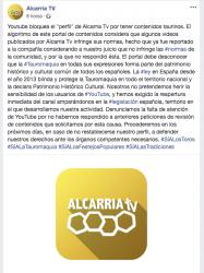 Youtube bloquea el canal de Alcarria TV por tener contenidos taurinos