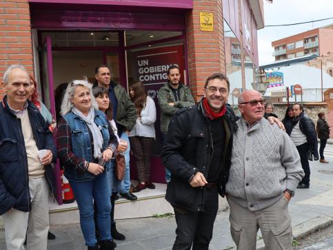 Monedero inaugura la sede de Podemos en Guadalajara