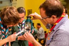 Los Scouts se encargan de que la Luz de la Paz llegue desde Belén a Guadalajara