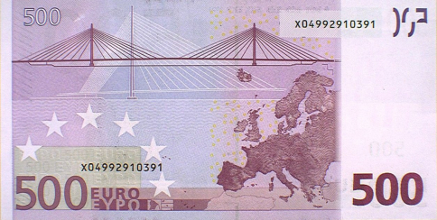 El número de billetes de 500 euros marca mínimos y el de 200, su menor nivel histórico