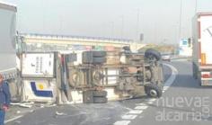 Importantes retenciones en la A-2 a causa de un accidente a la entrada a la provincia