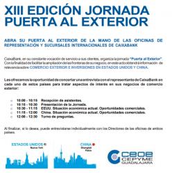 CaixaBank celebra este jueves su jornada 'Puerta al Exterior'