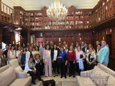 Teresa Valdehita, concejal de Brihuega, firmó en México la carta de intención de hermanamiento entre Puebla de Zaragoza y la villa alcarreña