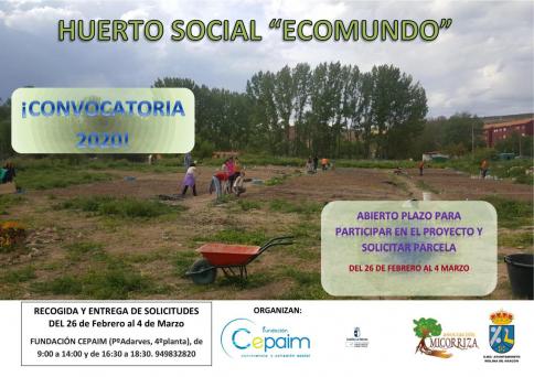 Abierta convocatoria para huerto social en Molina de Aragón