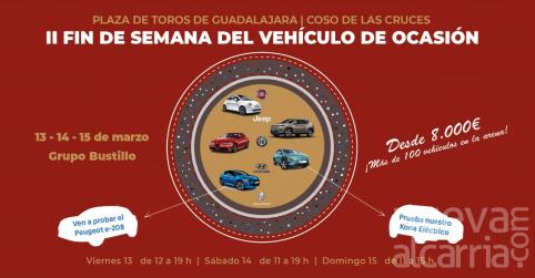 La mejor oferta de coches de ocasión llega a la plaza de toros de Guadalajara este fin de semana.