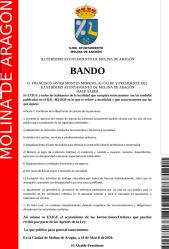 Nuevo bando del alcalde de Molina de Aragón