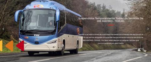 La empresa IRB suspende la linea de autobuses Madrid-Teruel