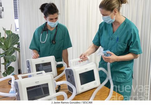 El Hospital recibe nuevos ventiladores para tratar la insuficiencia respiratoria grave