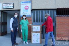 Pinturas Jafep-GONSER dona 100 batas quirúrgicas al hospital de Guadalajara