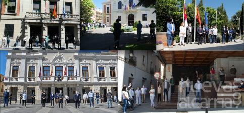 Las instituciones guardan un minuto de silencio en recuerdo por las víctimas del coronavirus