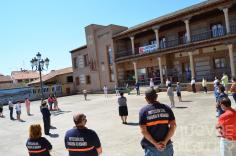 Yunquera de Henares guarda un sentido minuto de silencio por las víctimas del COVID-19