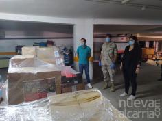 La Guardia Real dona 2.950 kilos de alimentos a Cáritas Castrense para distribuir entre las familias más necesitadas de Azuqueca