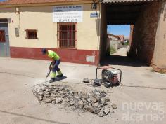 El Ayuntamiento de Yunquera inicia una campaña de reparación de vías públicas