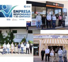 CEOE y la Diputación hacen entrega de los primeros sellos Empresa Responsable y de Confianza en Mondéjar