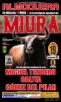 Almoguera celebra este sábado una corrida con toros de la ganadería Miura