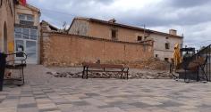 Obras en la plaza municipal de Embid