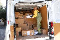 La Junta ha distribuido esta semana más de 433.000 artículos de protección a los centros sanitarios