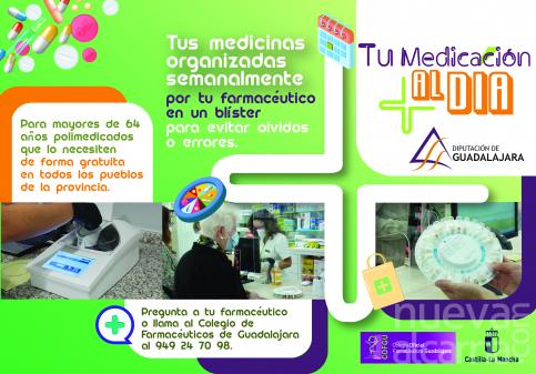"""Así funciona """"Tu medicación al día"""", nuevo programa social de la Diputación de Guadalajara"""