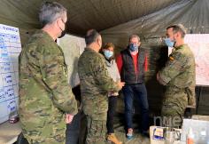 El delegado de la Junta agradece a efectivos de Geacam y de la unidad militar del Ejército de Tierra su apoyo en las labores de limpieza en Guadalajara