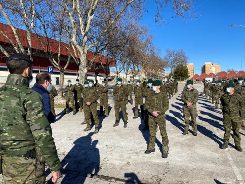 Llegan a la capital los soldados de la Brigada Aragón