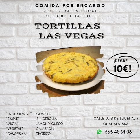 La tortilla ¿con cebolla o sin cebolla?....Bar Las Vegas tiene la solución
