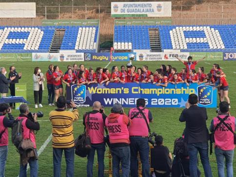El Gobierno regional felicita a la selección española de rugby femenino por el campeonato de Europa conseguido en Guadalajara