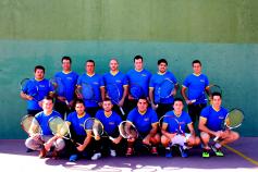 Málaga del Fresno lidera la liga provincial de frontenis pese a sufrir la primera derrota de la temporada