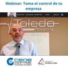 Éxito del Webinar de CEOE basado en cómo tomar el control de tu empresa