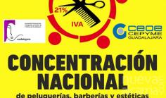 Continúan las reivindicaciones de los salones de peluquería y estética en España con una nueva jornada de protesta en más de 70 localizaciones