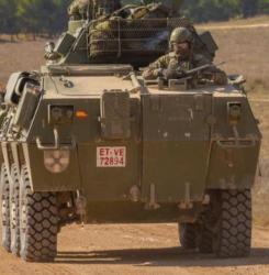 Una colisión entre dos blindados del Ejército en Chinchilla (Albacete) se salda con 15 heridos