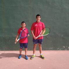 Marcos Domínguez y Javier de Luz competirán en la Fase Final del Campeonato de España juvenil, infantil y cadete de Frontón