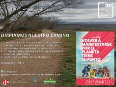 Actividad municipal de voluntariado para limpiar el Camino de la Barca en Azuqueca